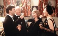 THE TALL GUY, left from second left: Harold Innocent, Anna Massey, Emma Thompson, 1989, © Miramax