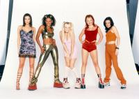 SPICE WORLD, Melanie Brown as Scary Spice, Emma Bunton as Baby Spice, Melanie Chisholm as Sporty Spice, Geri Halliwell as Ginger Spice, Victoria Beckham as Posh Spice, 1997, (c)Columbia Pictures