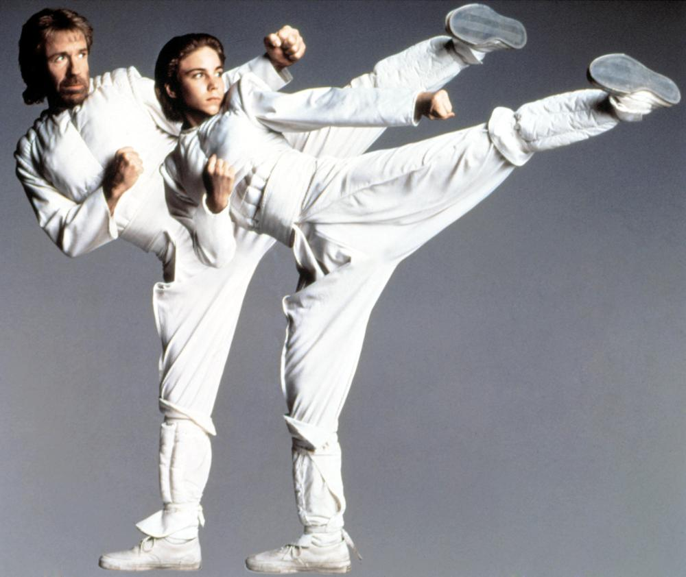 SIDEKICKS, Chuck Norris, Jonathan Brandis, 1992, © Columbia Home Video