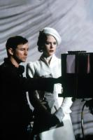 MOULIN ROUGE!, Director Baz Luhrmann, Nicole Kidman view a playback monitor on the set, 2001, TM & Copyright (c) 20th Century Fox Film Corp. All rights reserved.