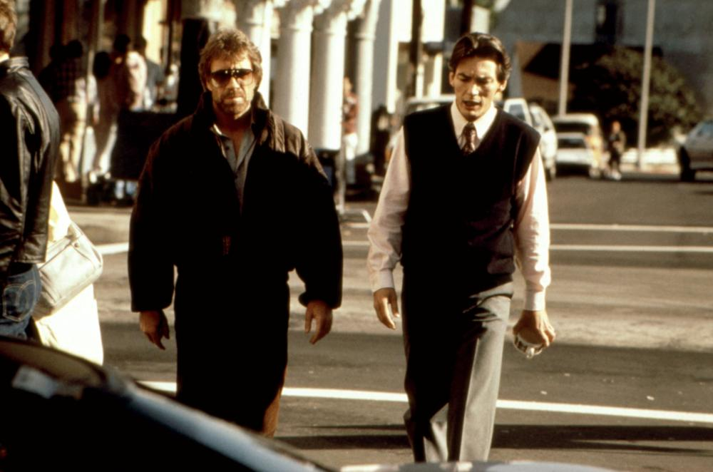 HERO AND TERROR, Chuck Norris, Billy Drago, 1988 ©Cannon Films