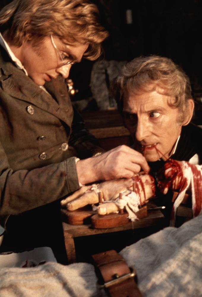 FRANKENSTEIN AND THE MONSTER FROM HELL, Shane Briant, Peter Cushing, 1974