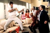 DOCTOR DETROIT, (L-R), Dan Aykroyd, Lydia Lei, Fran Drescher, Donna Dixon, Lynn Whitfield, Rudolph Kovar, Hank Salas, Kate Murtagh, 1983. (c)Universal Pictures