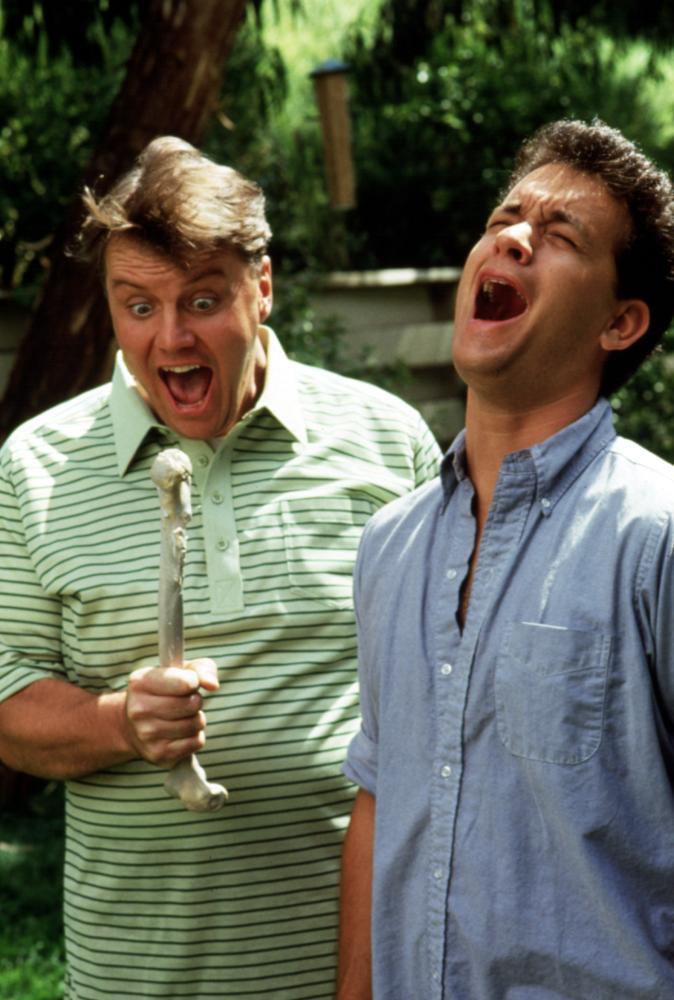 THE BURBS, Rick Ducommun, Tom Hanks, 1989