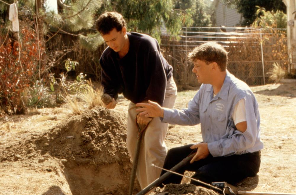 THE BURBS, Tom Hanks, Rick Ducommun, 1989, (c)Universal
