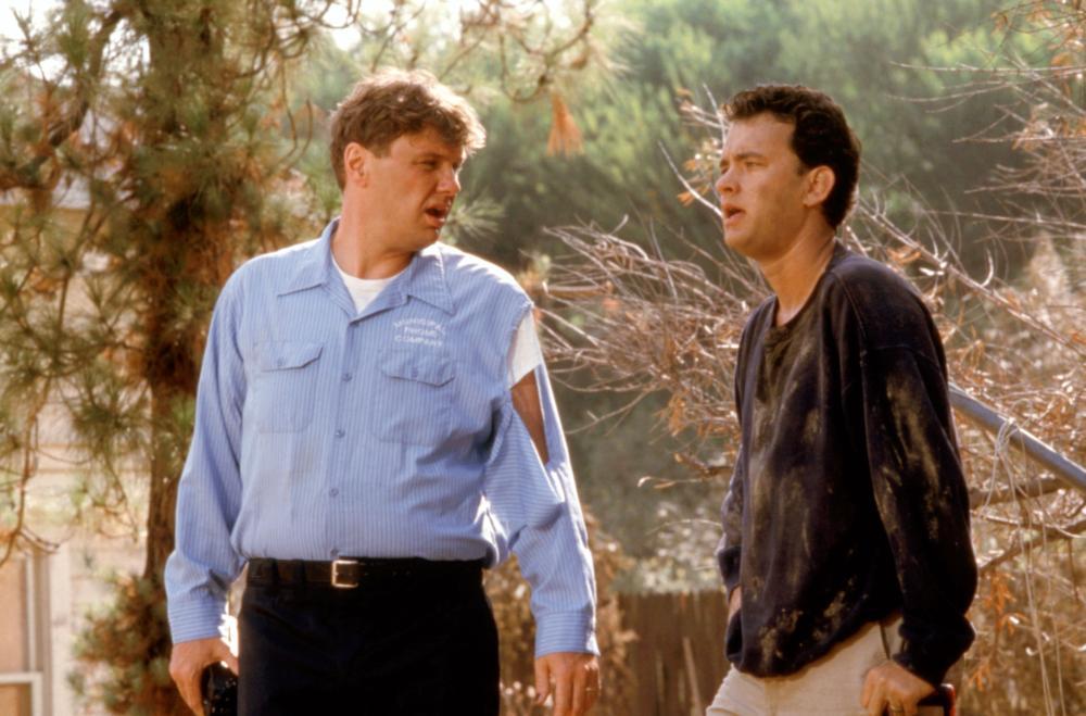 THE BURBS, Rick Ducommun, Tom Hanks, 1989, (c)Universal