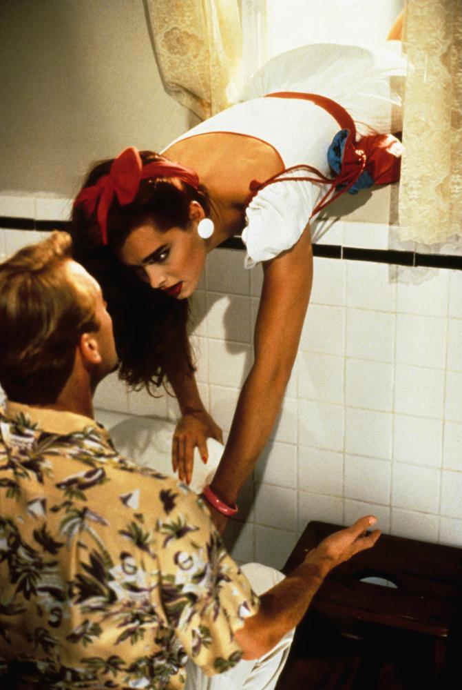 BRENDA STARR, from left, Anthony Peck, Brooke Shields, 1989, ©New World