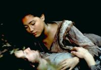 THE BLACK ROBE, Aden Young, Sandrine Holt, 1991. ©Samuel Goldwyn Films