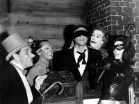 BATMAN, Burgess Meredith, Frank Gorshin, Adam West, Cesar Romero, Lee Meriwether, 1966  TM and Copyright © 20th Century Fox Film Corp. All rights reserved.