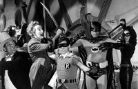 BATMAN, Burgess Meredith, Cesar Romero, Burt Ward, Frank Gorshin, Adam West, Lee Meriwether, 1966. TM and Copyright (c) 20th Century Fox Film Corp. All rights reserved.