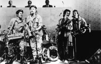 WATER, Chris Tummings, Billy Connolly, Ringo Starr, George Harrison, Eric Clapton, 1985. ©Paramount