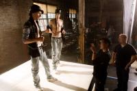 STEP UP 3D, Facundo Lombard, Martin Lombard, director Jon Chu (second from right), on set, 2010./©Walt Disney Studios Motion Pictures