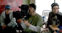 THE SIGNAL, directors Dan Bush, David Bruckner, Jacob Gentry, on set, 2007. ©Magnolia Pictures