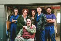 SECOND HAND WEDDING, from left: Jed Brophy, Geraldine Brophy, Patrick Wilson (sitting), Holly Shanahan, Ryan O'Kane, Grant Roa, 2008. ©Metropolis Films