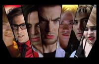 SCOTT PILGRIM VS. THE WORLD, from left: Shota Saito, Jason S chwartzman, Satya Bhabha, Chris Evans, Keita Saito, Brandon  Routh, Mae Whitman, 2010. ©Universal/ Collec tion