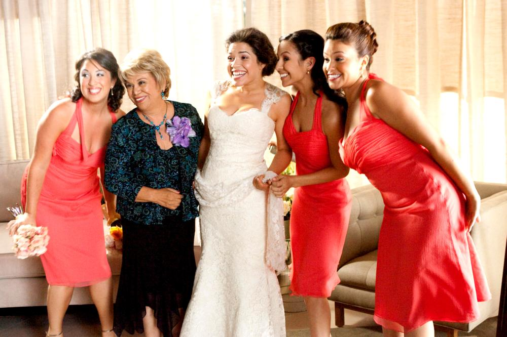 Our Family Wedding Lupe Ontiveros 2nd From Left America Ferrera Center