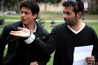 MY NAME IS KHAN, from left: Shahrukh Khan, director/producer Karan Johar, on set, 2010. TM & copyright ©Fox Searchlight. All rights reserved