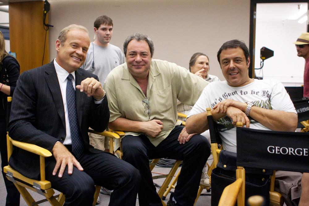 MIDDLE MEN, from left: Kelsey Grammer, director George Gallo, producer Christopher Mallick, on set, 2009. ph: Rico Torres/©Paramount Pictures