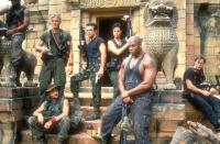 MEN OF WAR, Dolph Lundgren (second from left, standing), Tommy 'Tiny' Lister (second from right), 1994. ©Miramax
