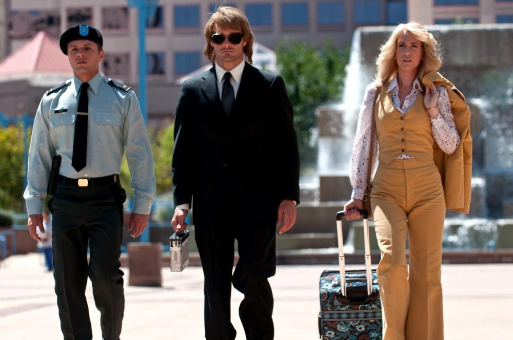 MACGRUBER, from left: Ryan Phillippe, Will Forte, Kristen Wiig, 2010. Ph: Greg Peters/ ©Universal