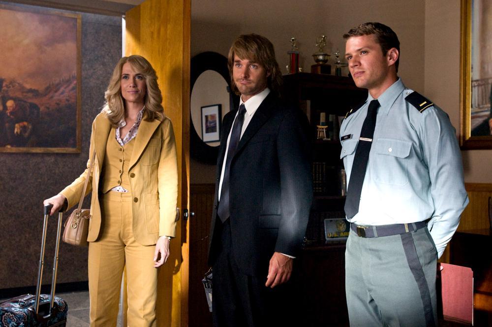 MACGRUBER, from left: Kristen Wiig, Will Forte, Ryan Phillippe, 2010. Ph: Greg Peters/ ©Universal