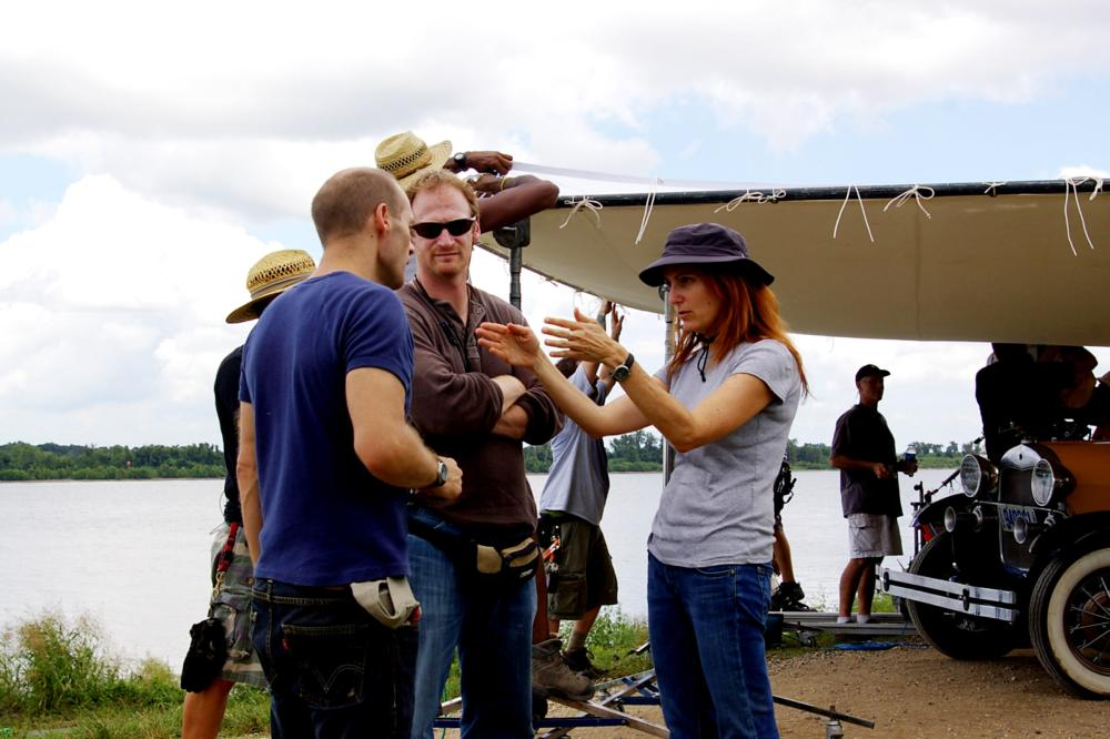 THE LOSS OF A TEARDROP DIAMOND, director Jodie Markell (right), on set, 2008. ©Paladin (II)