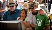 LETTERS TO GOD, from left: director  David Nixon, Bailee Madison, director Patrick Doughtie, Tanner Maguire, on set, 2010. ©Vivendi Entertainment