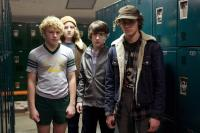 LET ME IN, from left: Jimmy 'Jax' Pinchak, Nicolai Dorian, Dylan Minnette, Brett DelBuono, 2010. Ph: Saeed Adyani/©Overture Films