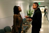 LA MISSION, from left: Erika Alexander, director Peter Bratt, on set, 2009. ©Screen Media Ventures