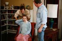 THE LAST EXORCISM, from left: Patrick Fabian, Ashley Bell, Louis Herthum, 2010. ph: Patti Perret/©Lionsgate