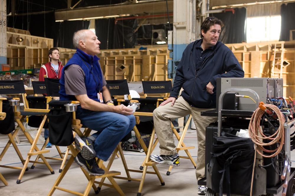 THE LAST AIRBENDER, producers Frank Marshall, Sam Mercer, on set, 2010. Ph: Zade Rosenthal/©Paramount