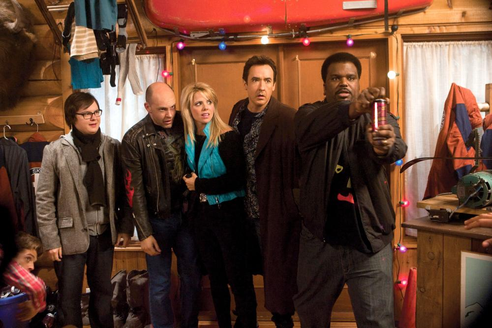 HOT TUB TIME MACHINE, from left: Clark Duke, Rob Corddry, Collette Wolfe, John Cusack, Craig Robinson, 2010. ph: Rob McEwan/©MGM