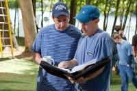 GROWN UPS, from left: writer Adam Sandler, director Dennis Dugan, on set, 2010. ph: Tracy Bennett/©Columbia Pictures