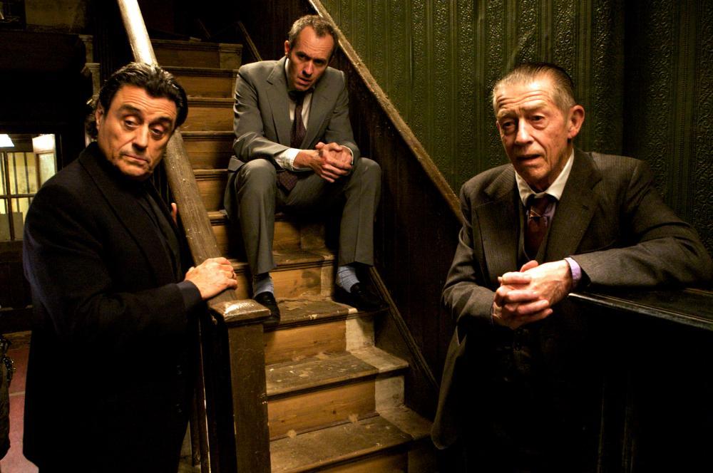 44 INCH CHEST, from left: Ian McShane, Stephen Dillane, John Hurt, 2009. ©Image Entertainment