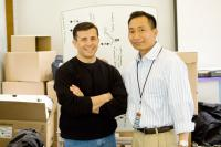 EXTRAORDINARY MEASURES, from left: John Crowley, Dr. Hung Do, on set, 2010. ph: Merie Wesimiller Wallace/©CBS Films
