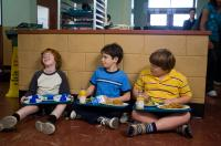 DIARY OF A WIMPY KID, from left: Grayson Russell, Zachary Gordon, Robert Capron, 2010, ph: Rob McEwan/TM & Copyright ©20th Century Fox Film Corp. All rights reserved.