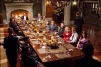 DINNER FOR SCHMUCKS, at table, from left around: Octavia Spencer, Randall Park, Ron Livingston, Larry Wilmore, David Walliams, Bruce Greenwood, Rick Overton, Patrick Fischler, Steve Carell, Paul Rudd, Jeff Dunham, Andrea Savage, 2010. Ph: Merie Weismiller
