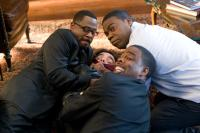 DEATH AT A FUNERAL, from left: Martin Lawrence, Peter Dinklage, Tracy Morgan, Chris Rock (front), 2010. ph: Phil Bray/©Screen Gems