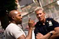 BROOKLYN'S FINEST, from left: director Antoine Fuqua, Richard Gere, on set, 2009. ph: Phillip V. Caruso/©Overture Films