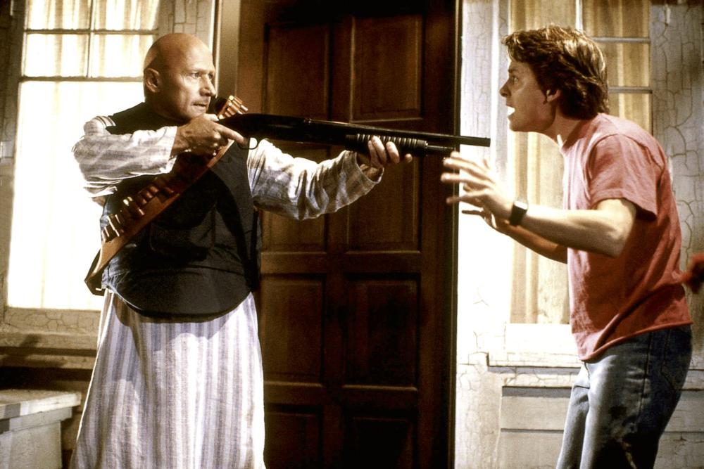 BACK TO THE FUTURE PART III, James Tolkan, Michael J. Fox, 1990, (c) Universal