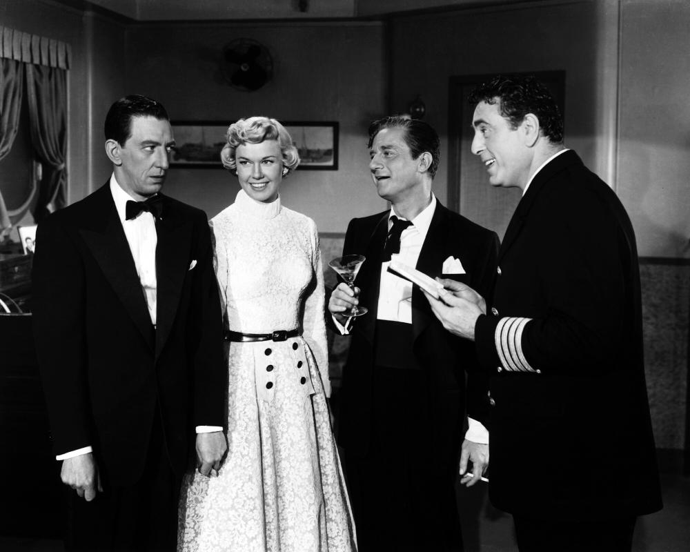 APRIL IN PARIS, Ray Bolger, Doris Day, Claude Dauphin, George Givot, 1952