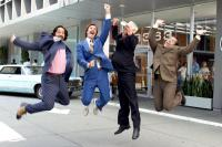 ANCHORMAN: THE LEGEND OF ROM BURGUNDY, Paul Rudd, Will Ferrell, David Koechner, Steve Carell, 2004, (c) DreamWorks