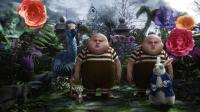 ALICE IN WONDERLAND, from left: Michael Gough as the Dodo, Matt Lucas as Tweedledee and Tweedledum, Michael Sheen as the White Rabbit, 2010. ©Walt Disney Pictures