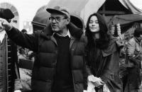 VALMONT, from left, director Milos Forman, Meg Tilly, on-set, 1989, ©Orion Pictures