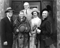 TEA FOR TWO, Gordon MacRae, Johnny McGovern, S.Z. Sakall (back), Elinor Donahue, Doris Day, 1950