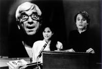 REPOSSESSED, from left: Leslie Nielsen, Linda Blair, Anthony Starke, 1990, © New Line
