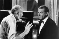 NEVER SAY NEVER AGAIN, from left, director Irvin Kershner,  Sean Connery, 1983, ©Warner Brothers