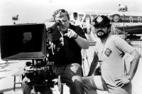 DELTA FORCE, director, producer and screenwriter Menahem Golan, (left), 1986, ©Cannon Films