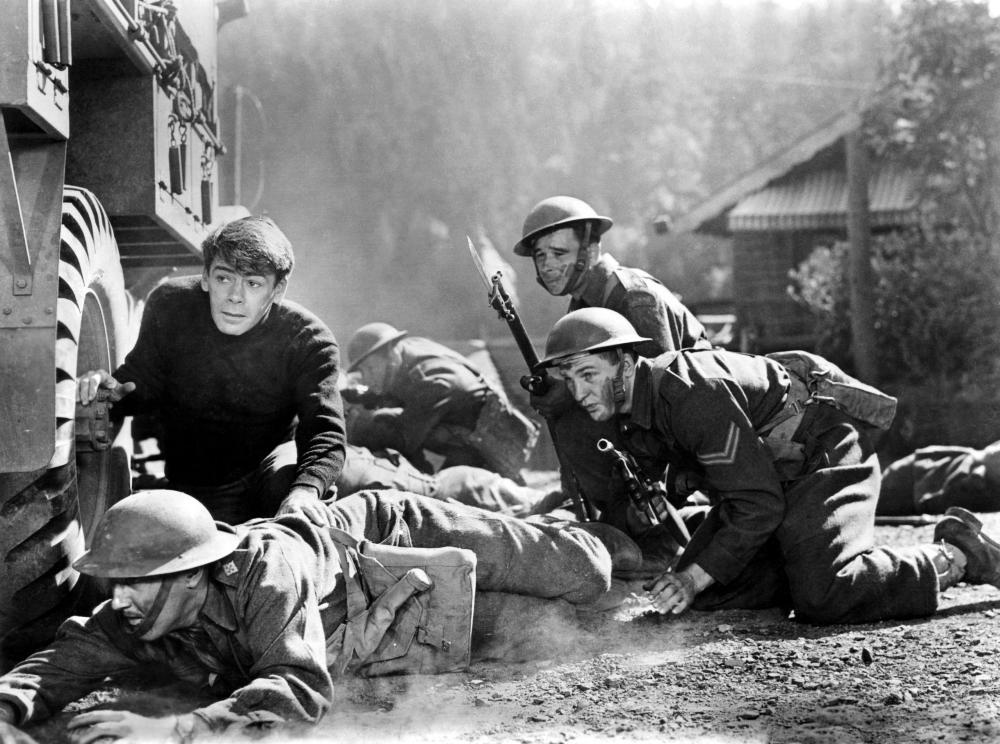 COMMANDOS STRIKE AT DAWN, Paul Muni (left), 1942