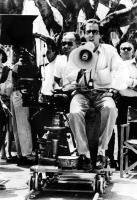 CINEMA PARADISO, director Giuseppe Tornatore on the set, 1989